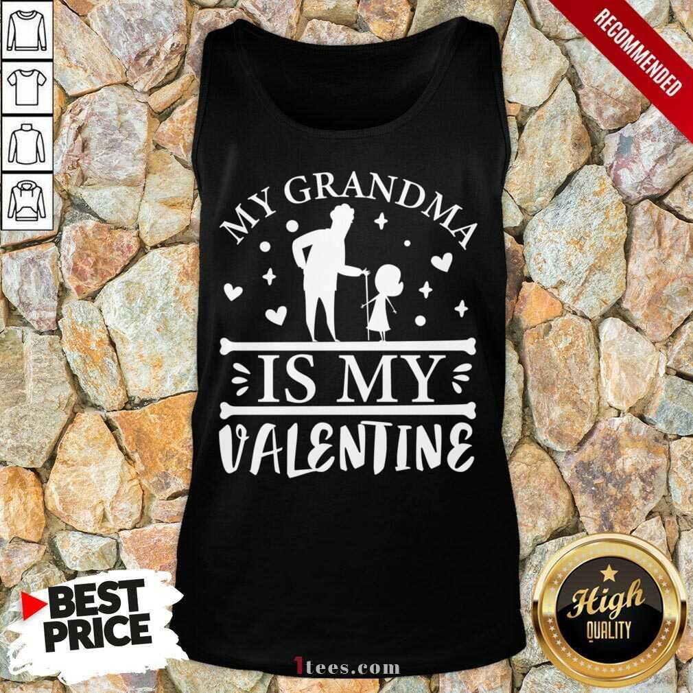 Grandma Is My Valentine Tank Top- Design By 1Tees.com