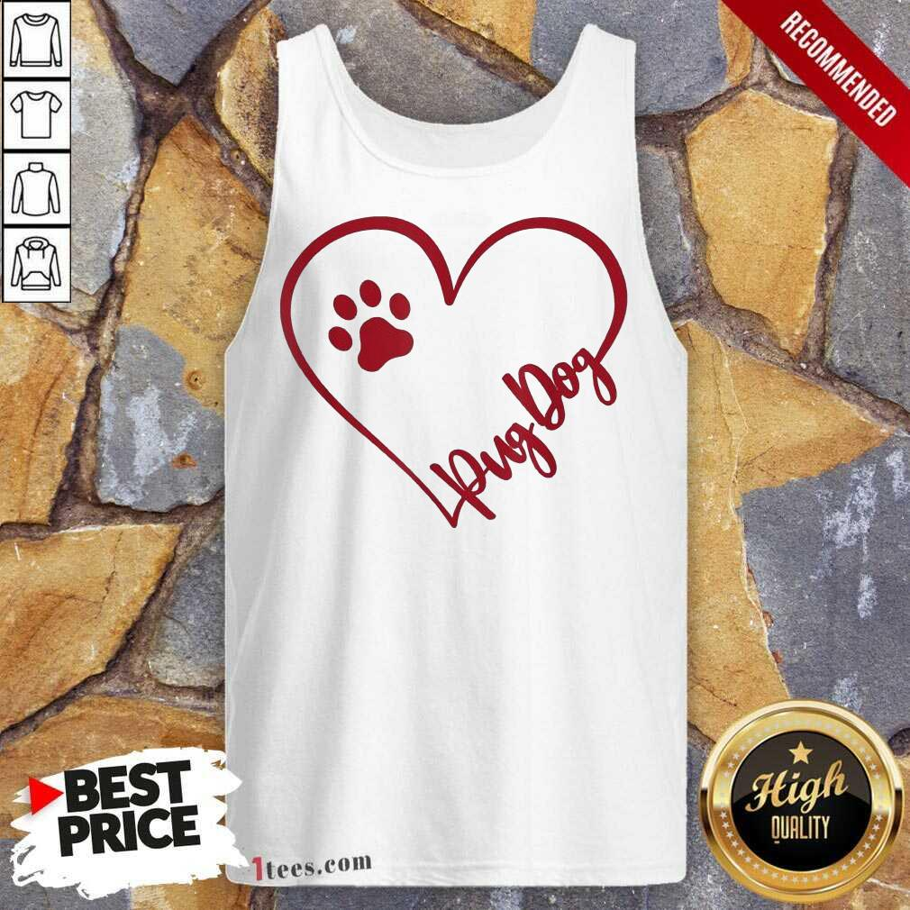 Cute Pug Dog Valentinsgift Valentines Day Mom Tank Top- Design By 1Tees.com