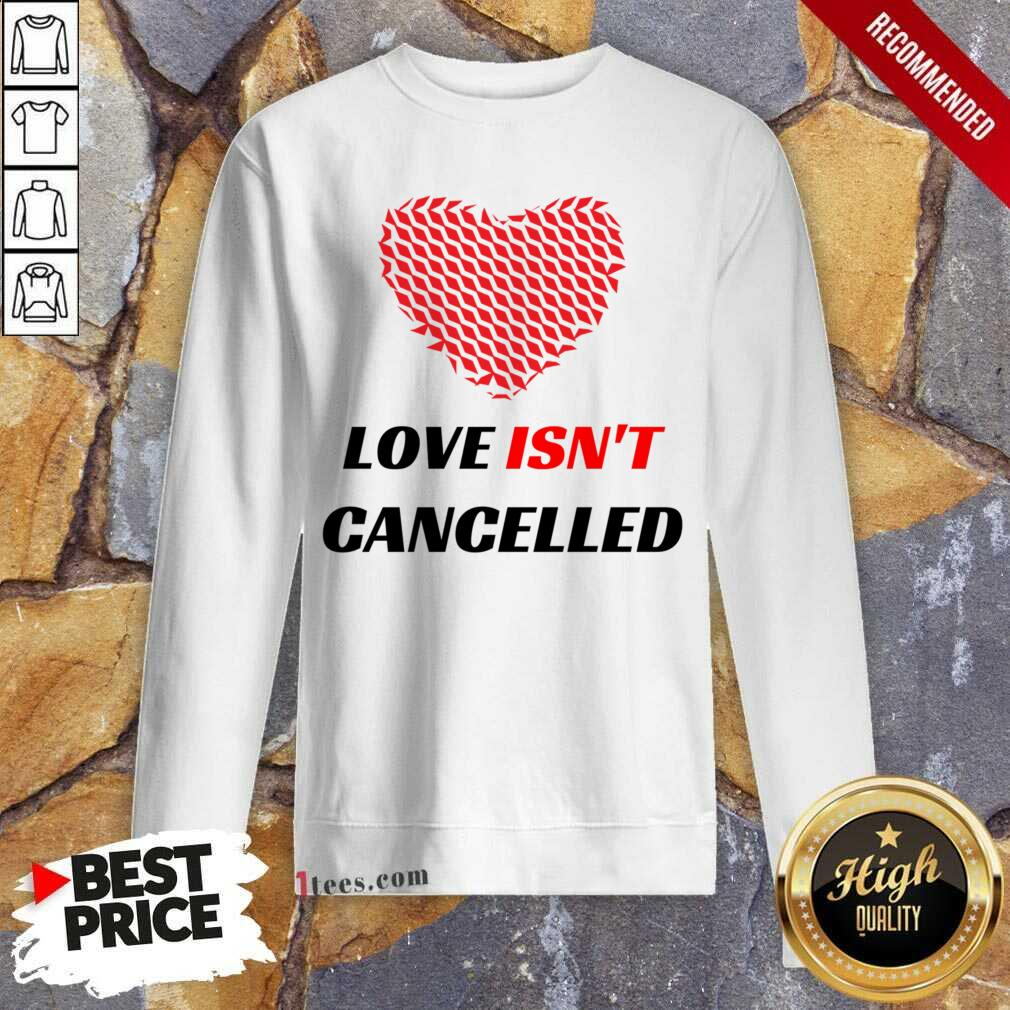 Love Isnt Cancelled Classic Sweatshirt-Design By 1Tees.com
