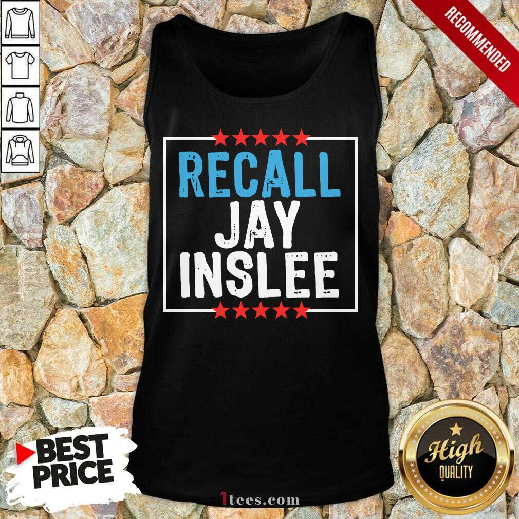 Recall Jay Inslee Stars Election Tank Top- Design By 1tees.com