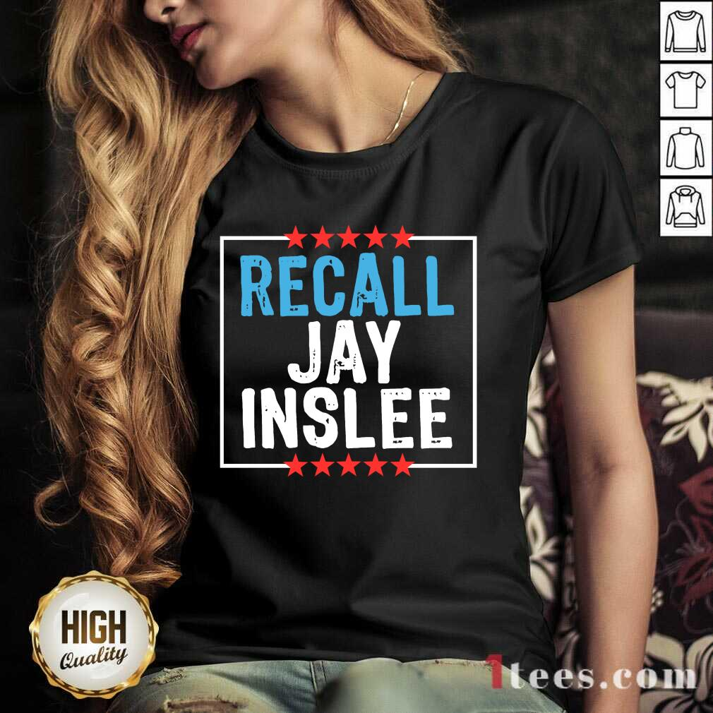 Recall Jay Inslee Stars Election V-neck- Design By 1Tees.com