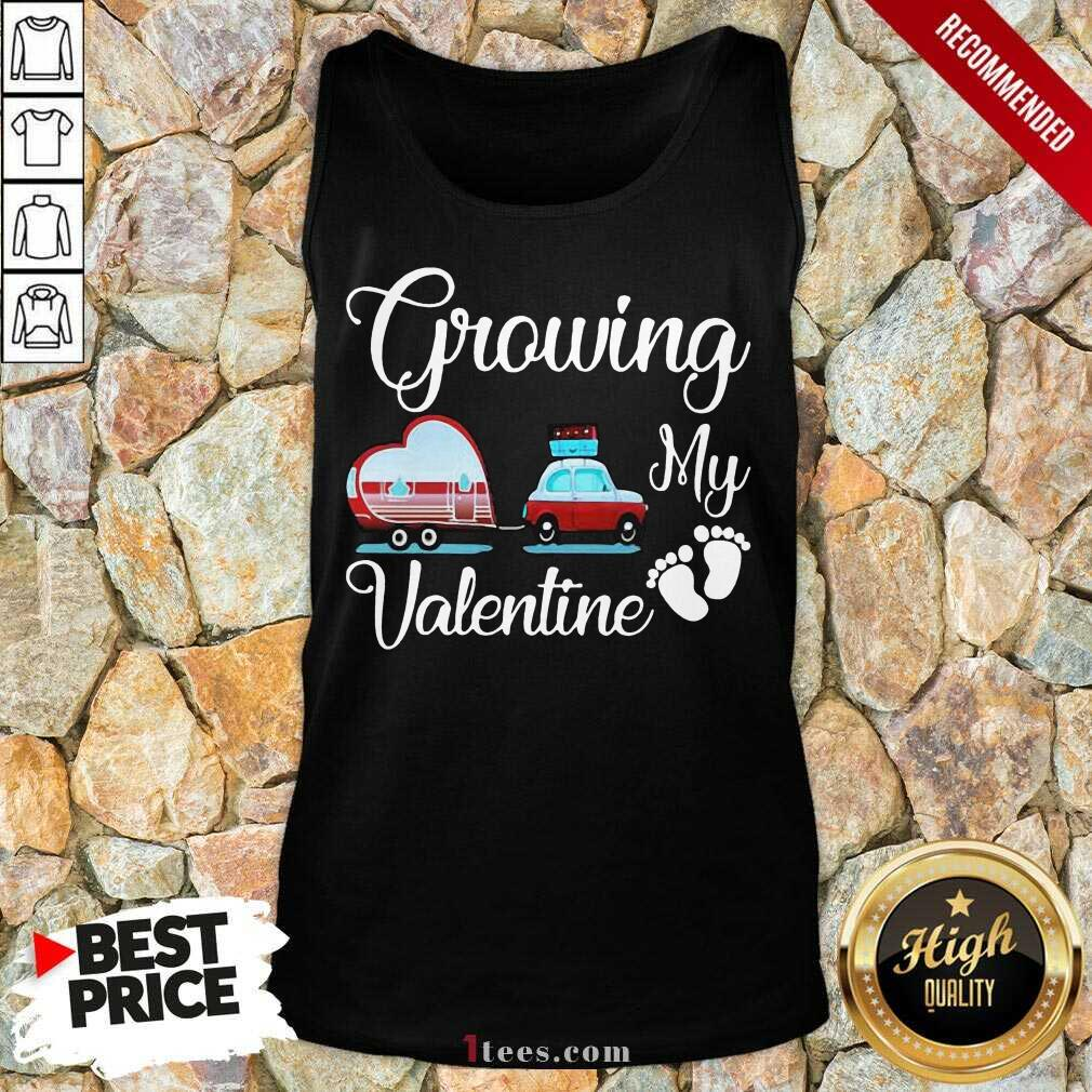 Growing My Valentine Tank Top-Design By 1Tees.com