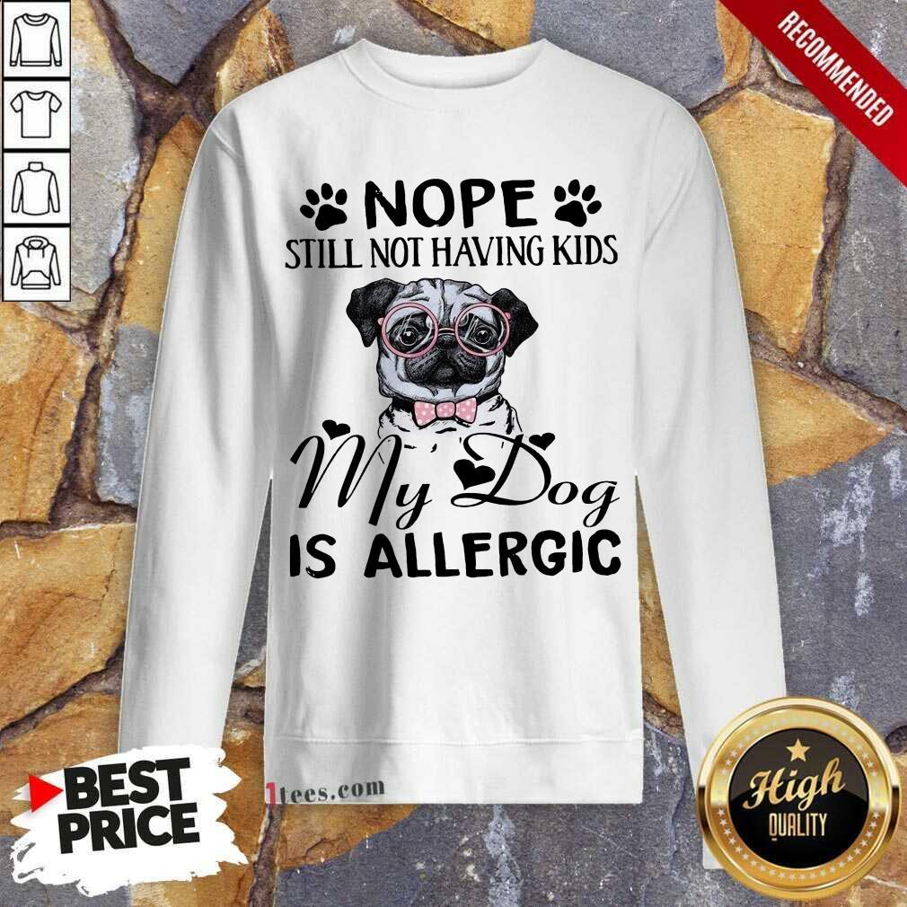 Nope Still Not Having Kids My Dog Is Allergic Sweatshirt