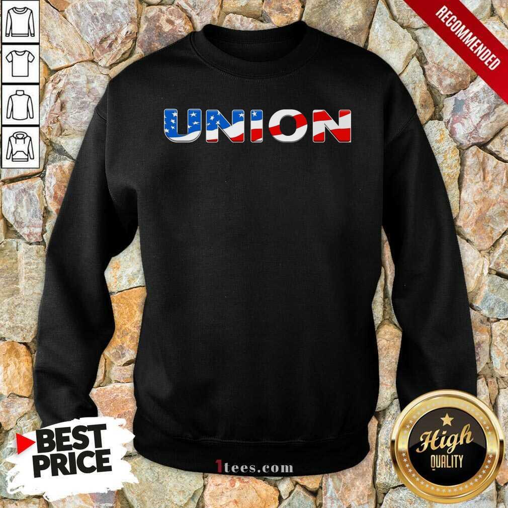 Union American Flag Sweatshirt
