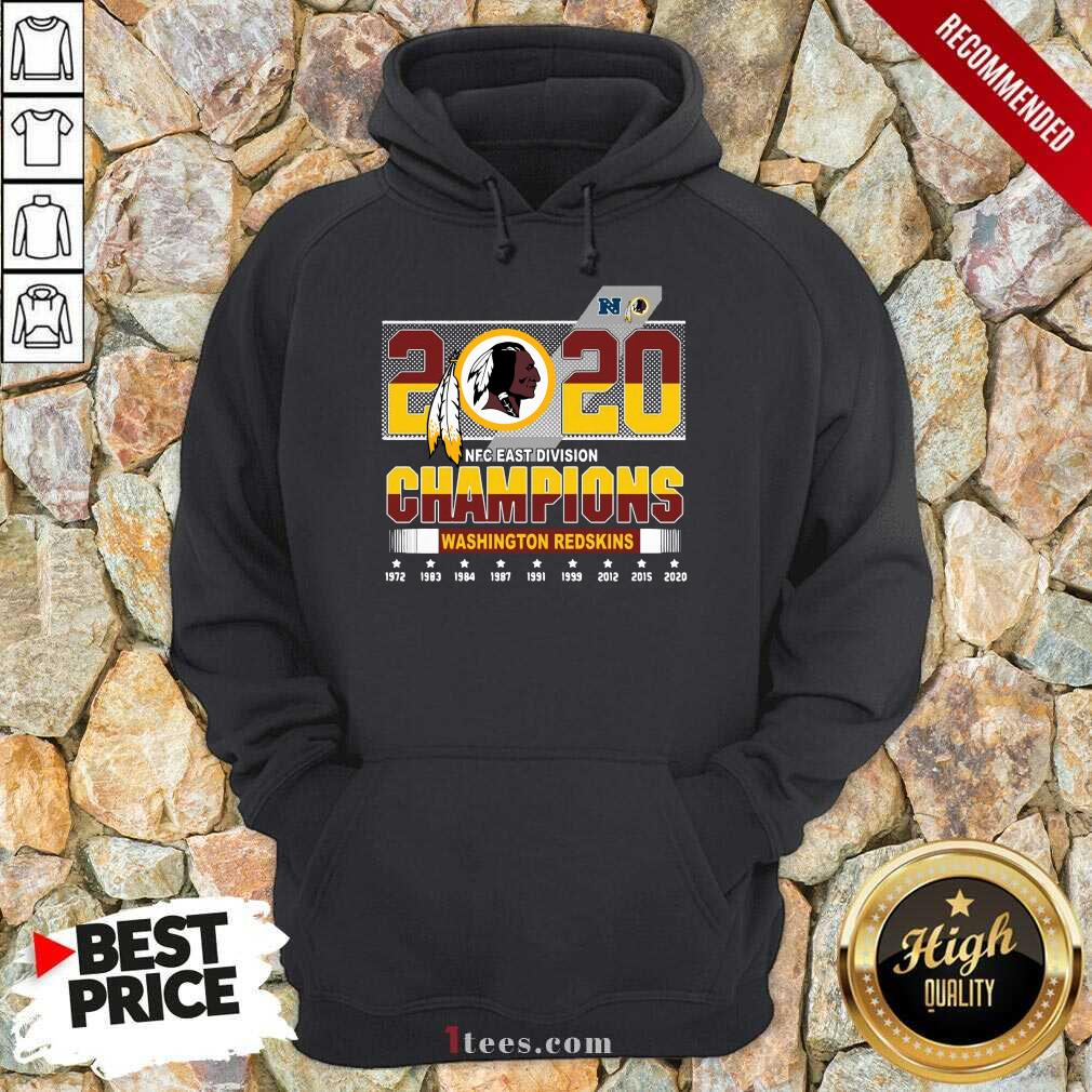 2020 Nfc East Division Champions Washington Redskins 1972 2020 Hoodie-Design By 1Tees.com
