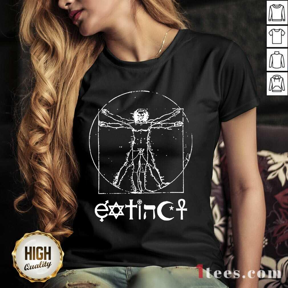 Extinct Ventruvian V-neck- Design By 1Tees.com