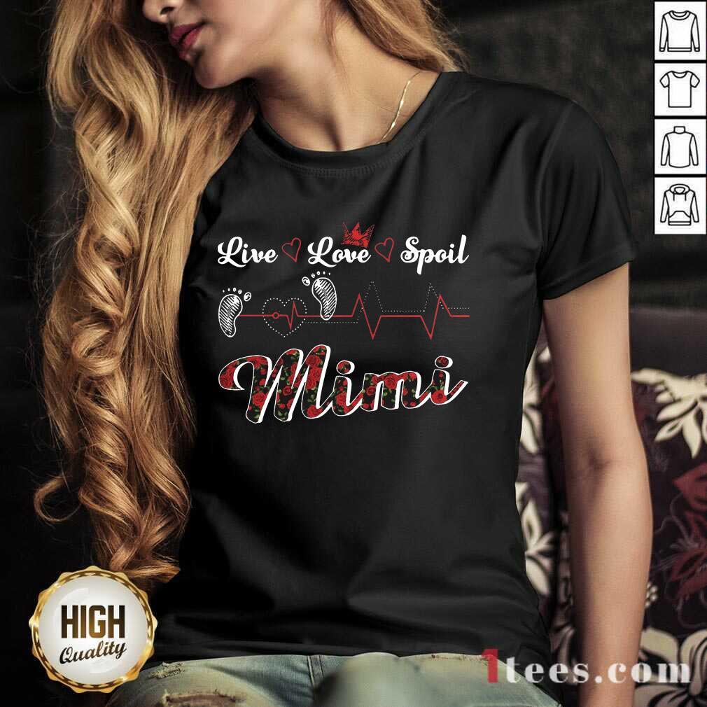 Mimi Live Love Spoil Heartbeat V-neck- Design By 1Tees.com