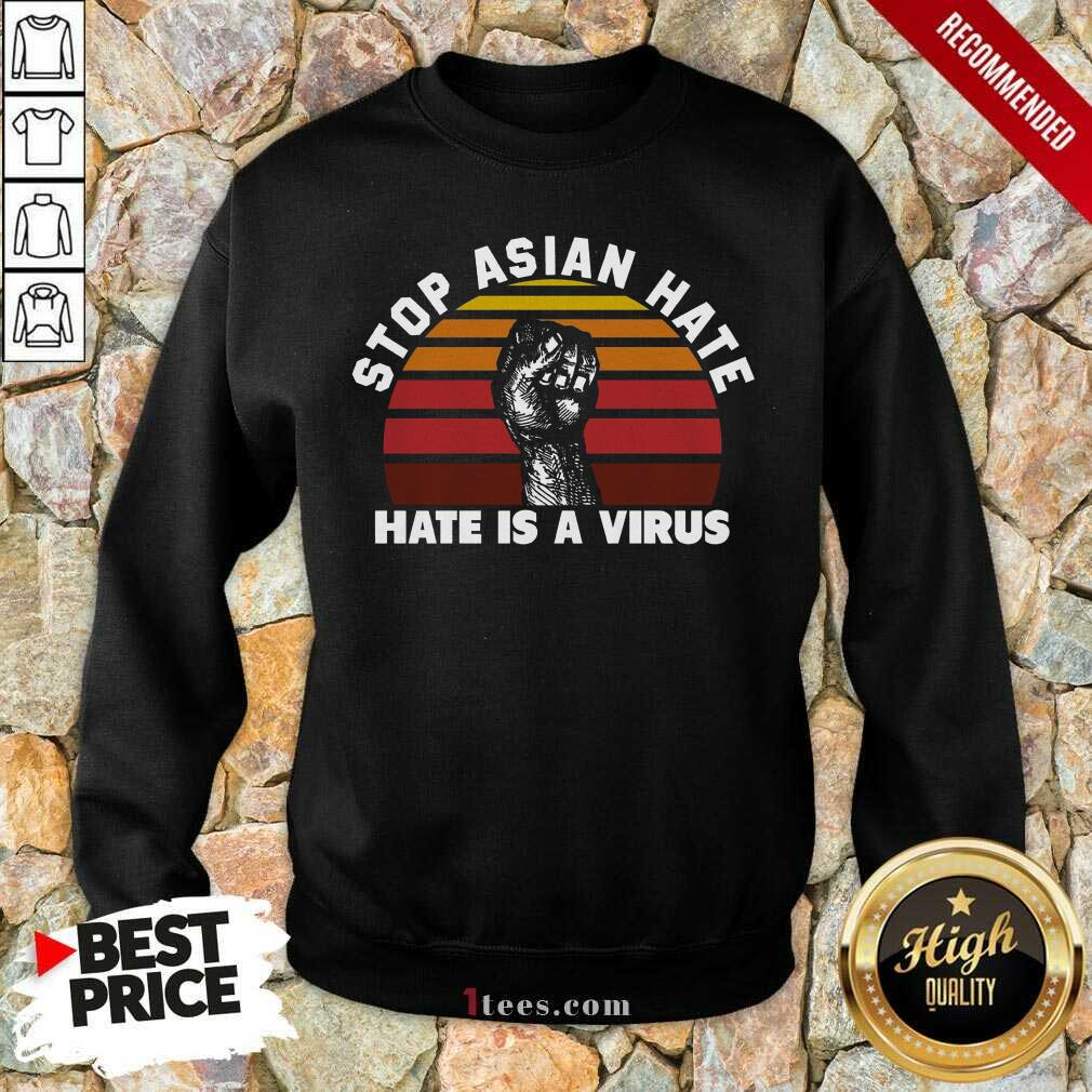 Confident Stop Asian Hate Virus Vintage Sweatshirt