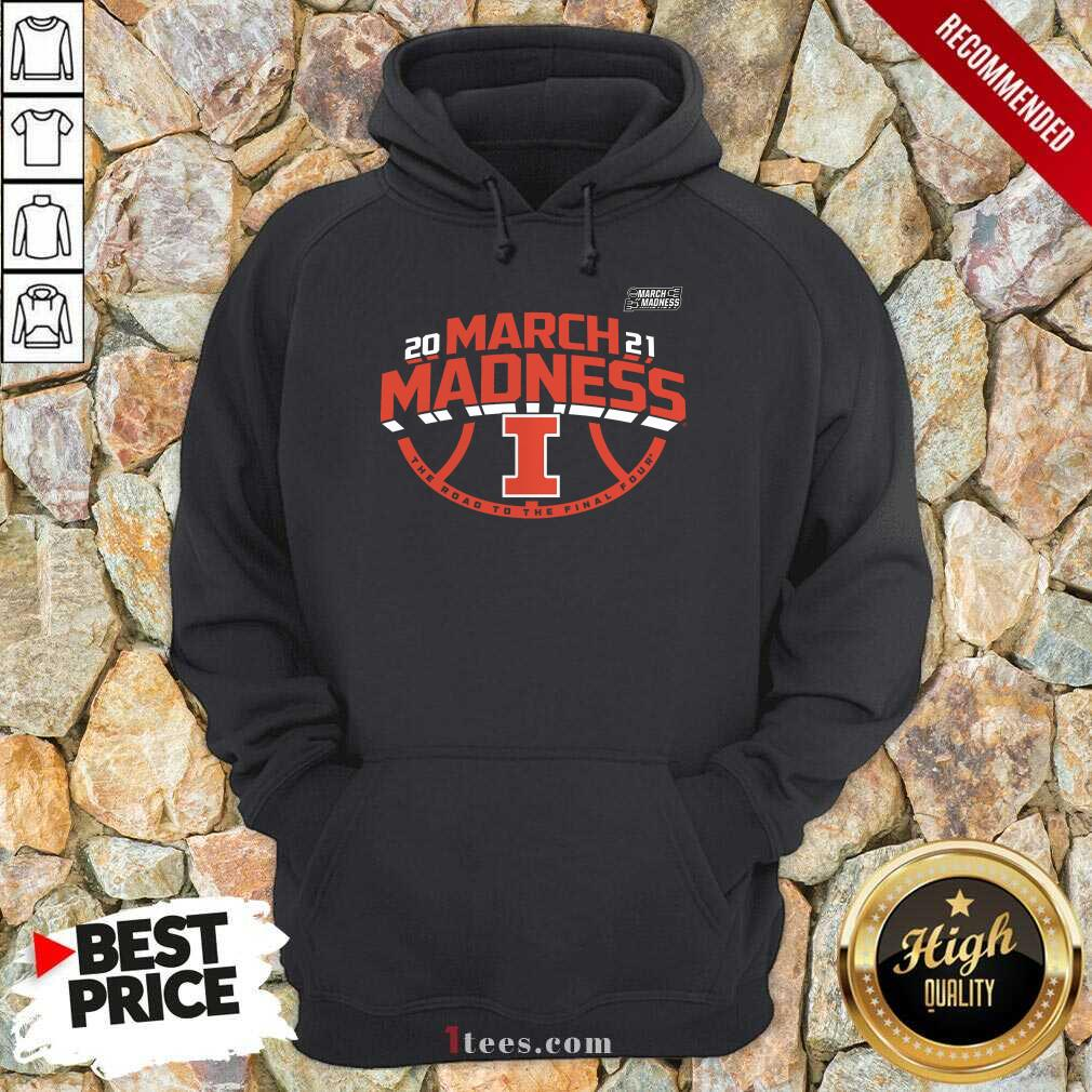 Enthusiastic Illinois Fighting 2021 March Hoodie