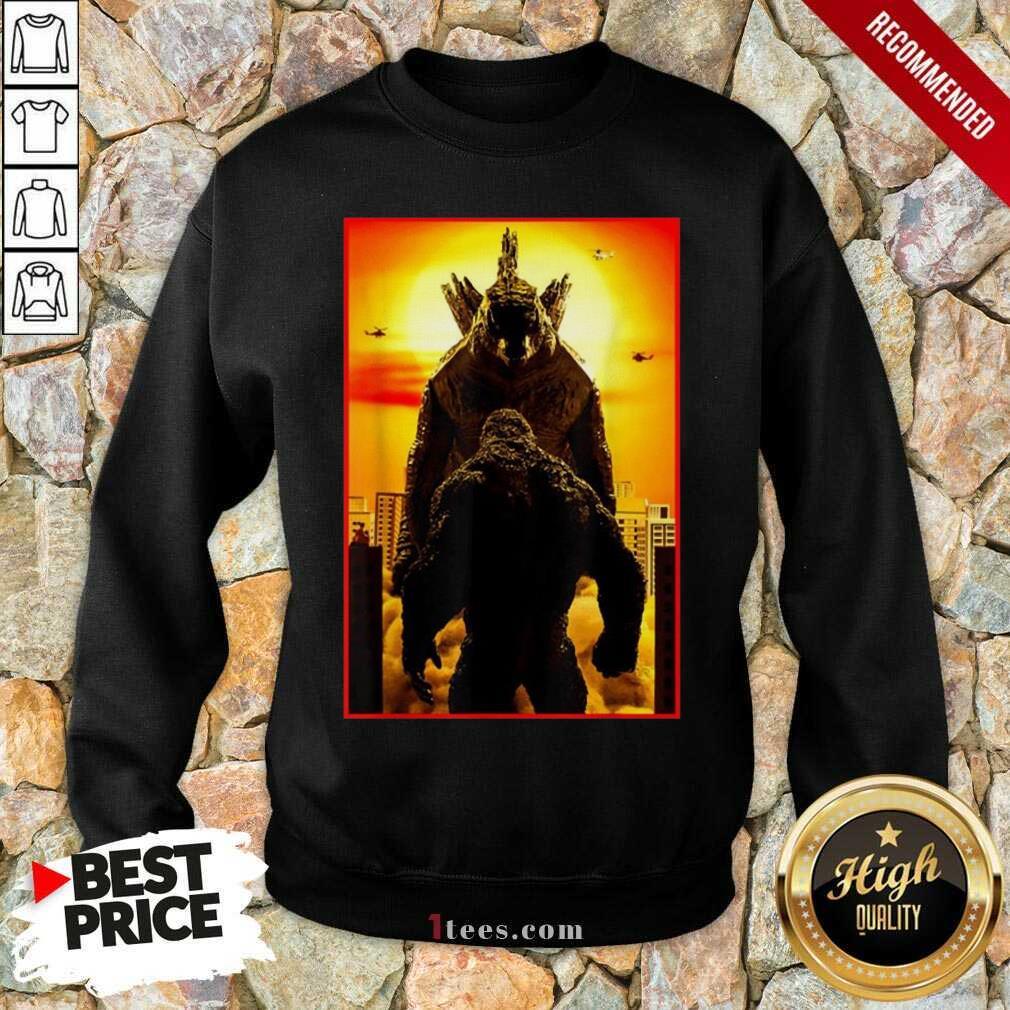 Great Godzilla Vs Kong Official Team 2021 Sweatshirt