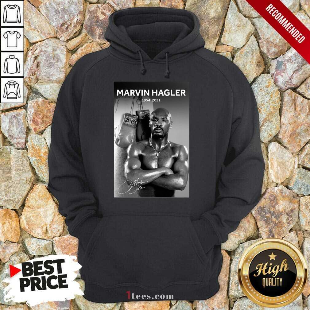 Great Marvelous Marvin Hagler 1954-2021 Hoodie