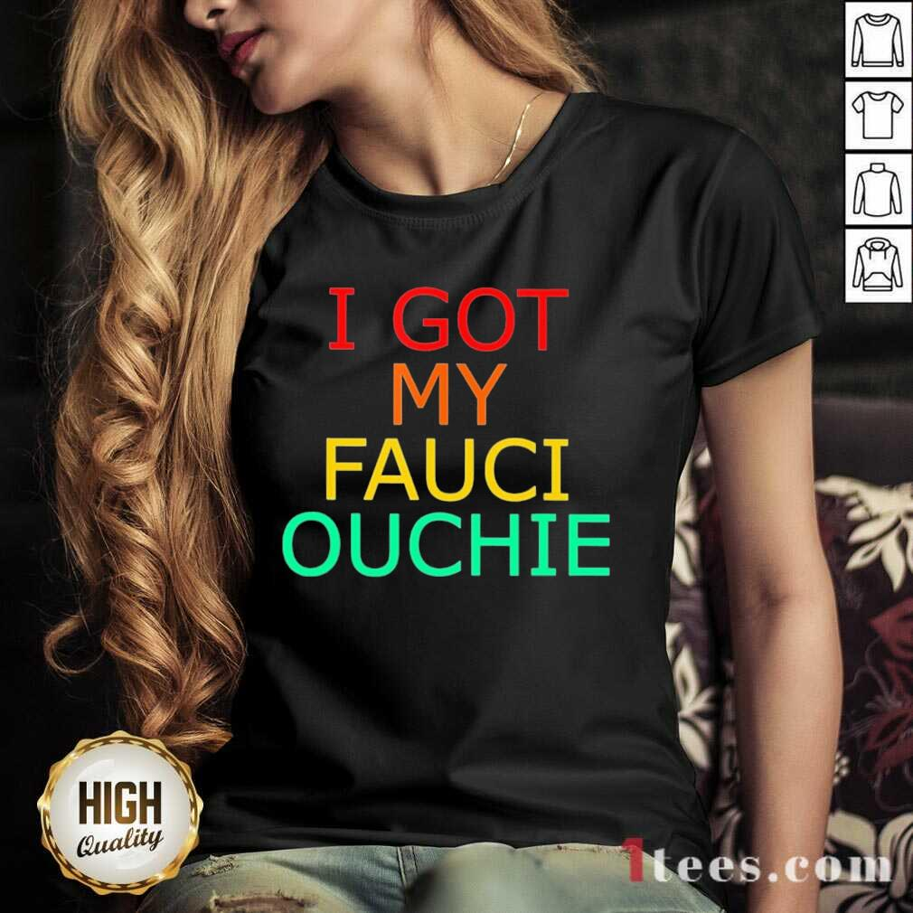 Happy My Fauci Ouchie Vintage 2021 V-neck