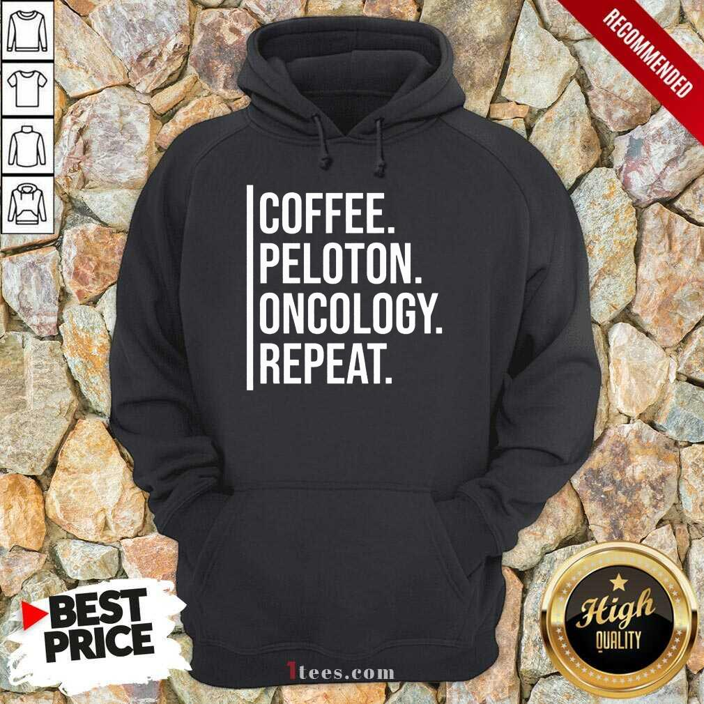 Intrigued Coffee Peloton Oncology Repeat Hoodie