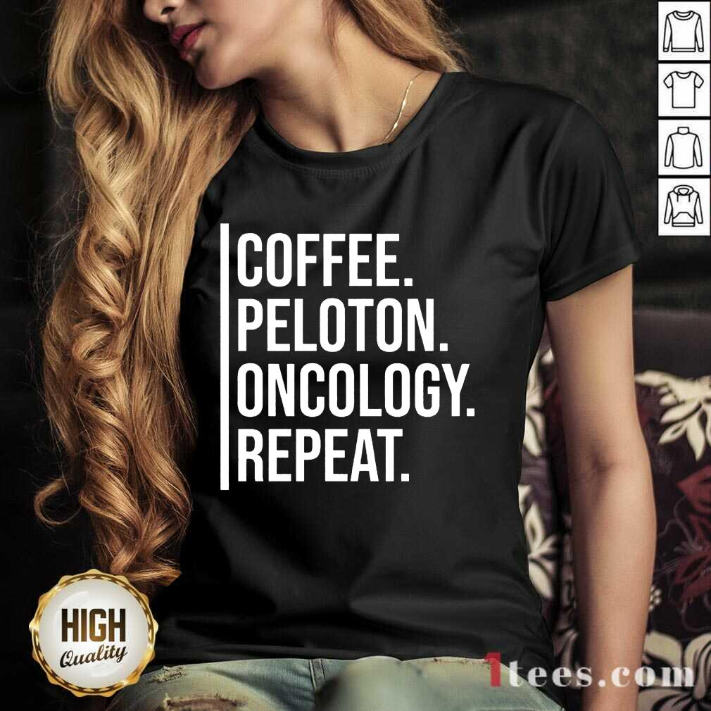 Intrigued Coffee Peloton Oncology Repeat V-neck