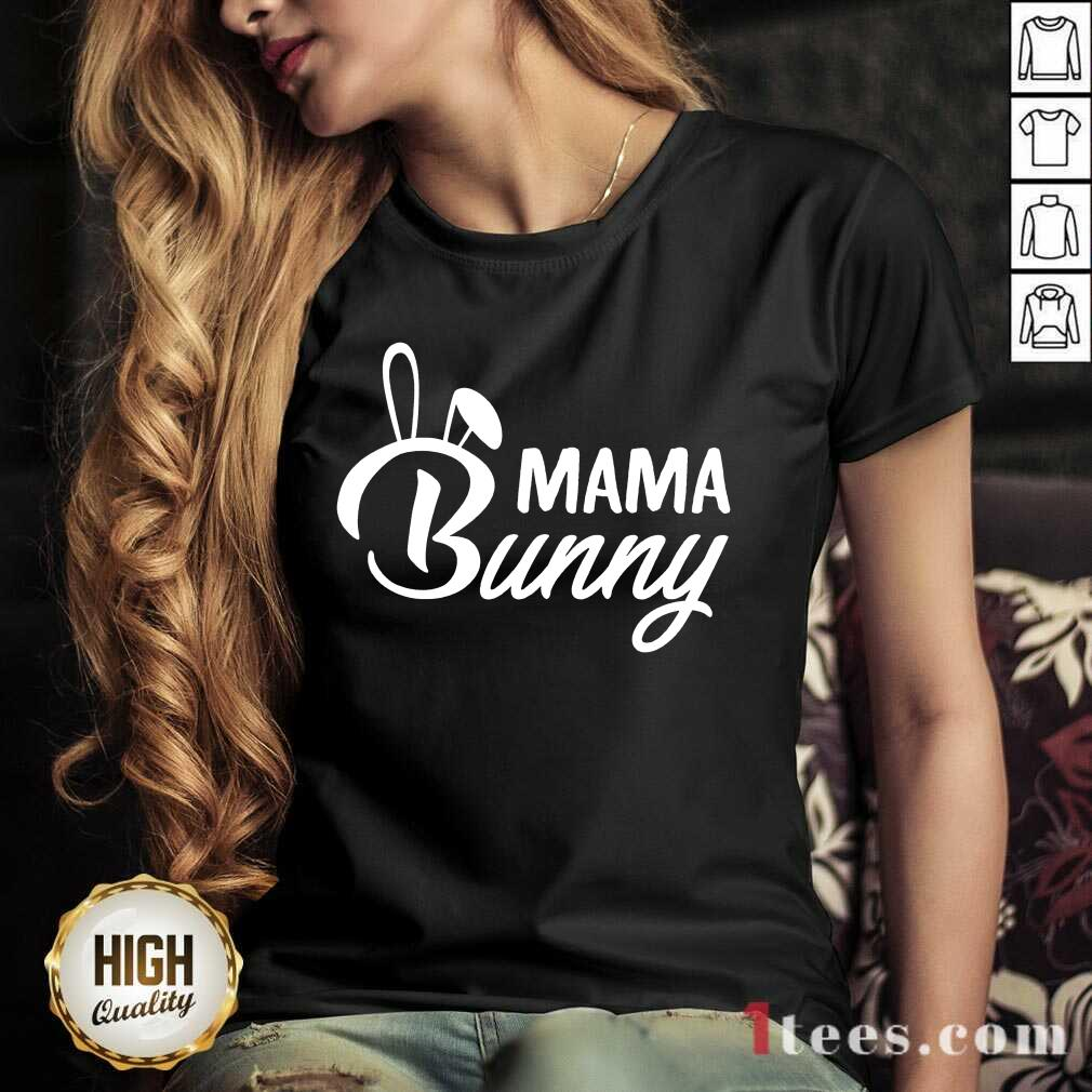 Nonplussed Mama Bunny 2021 V-neck