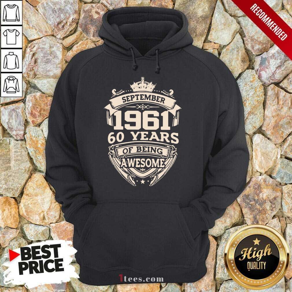 Nonplussed September 1961 60 Years Hoodie