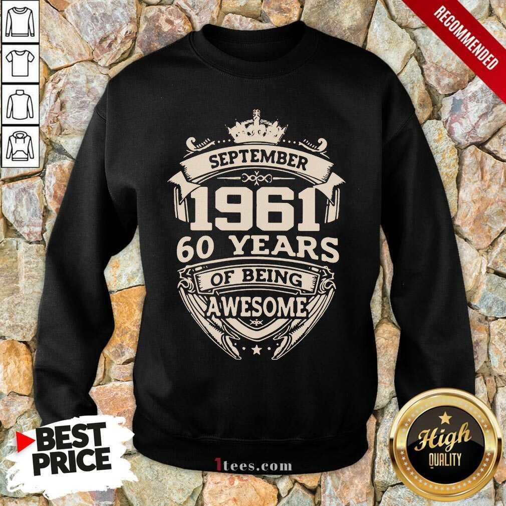 Nonplussed September 1961 60 Years Sweatshirt