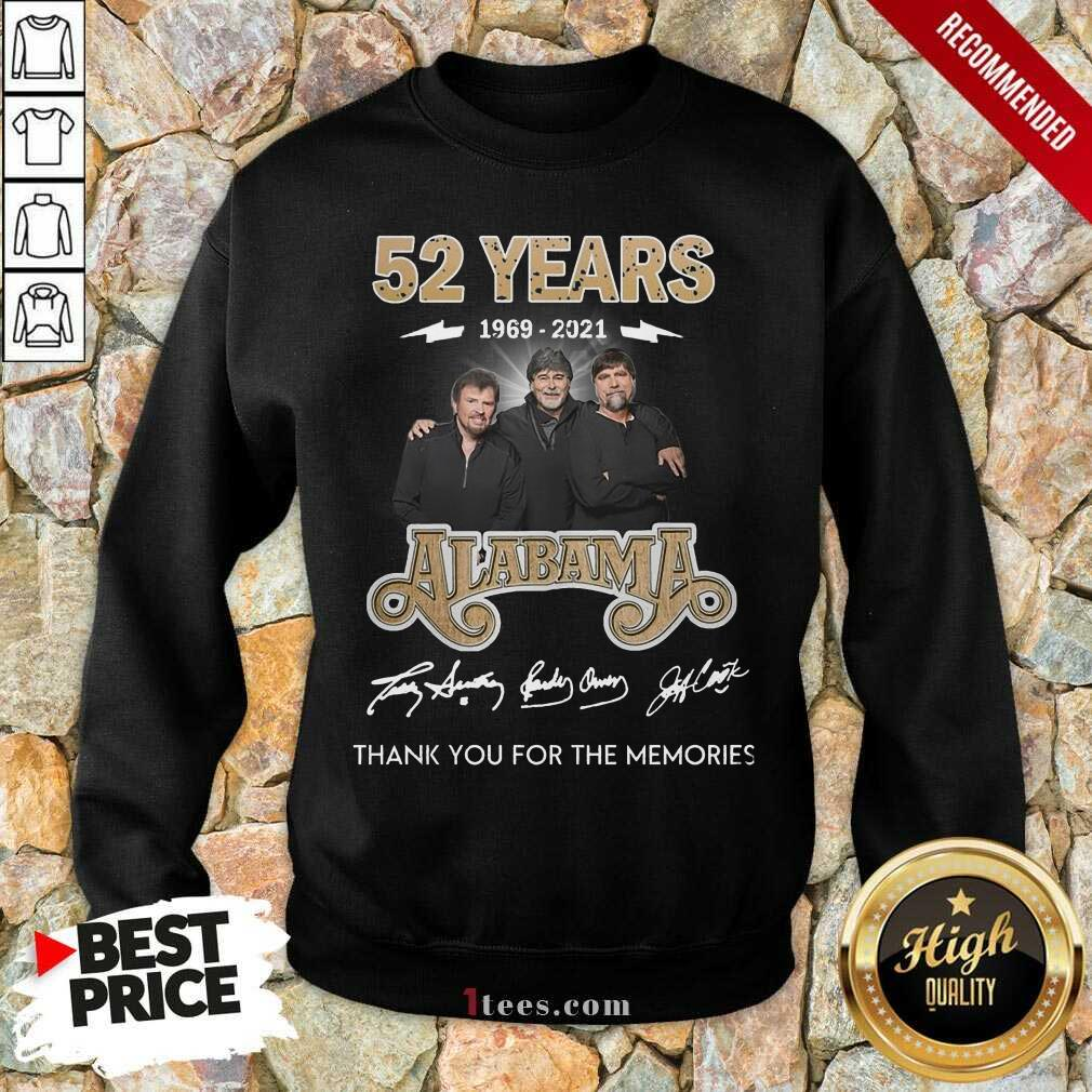 Official 52 Years 1969 2021 Alabama Great Sweatshirt