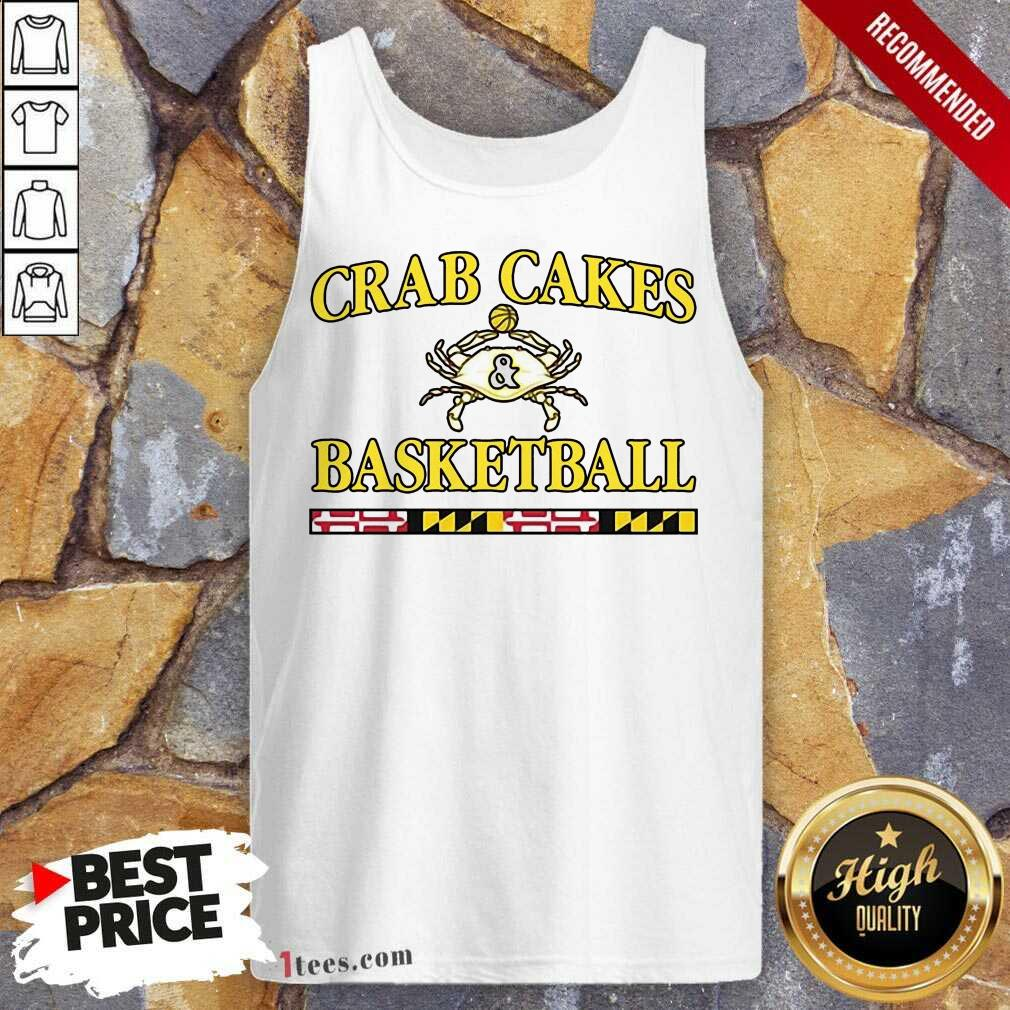 Overjoyed Crab Cakes And Basketball Tank Top