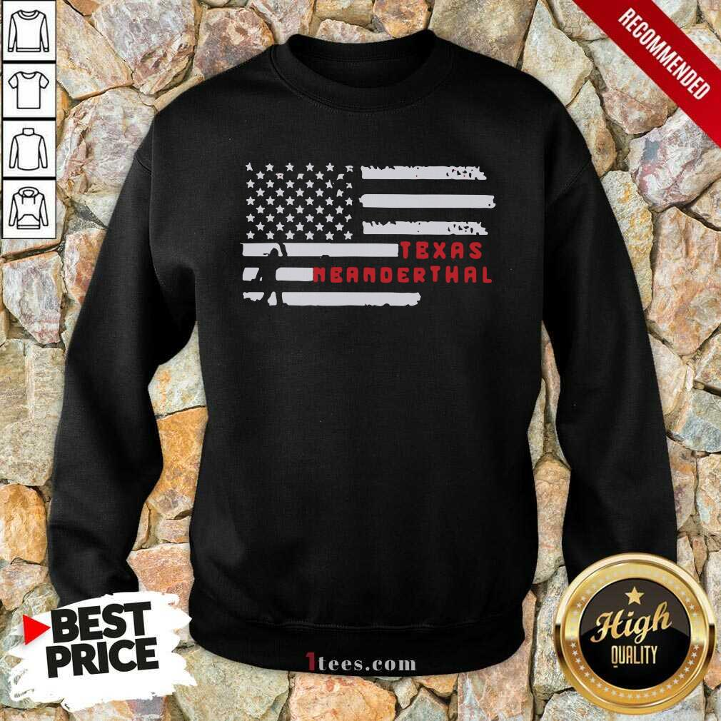 Bigfoot American Flag Texas Neanderthals 2021 Sweatshirt