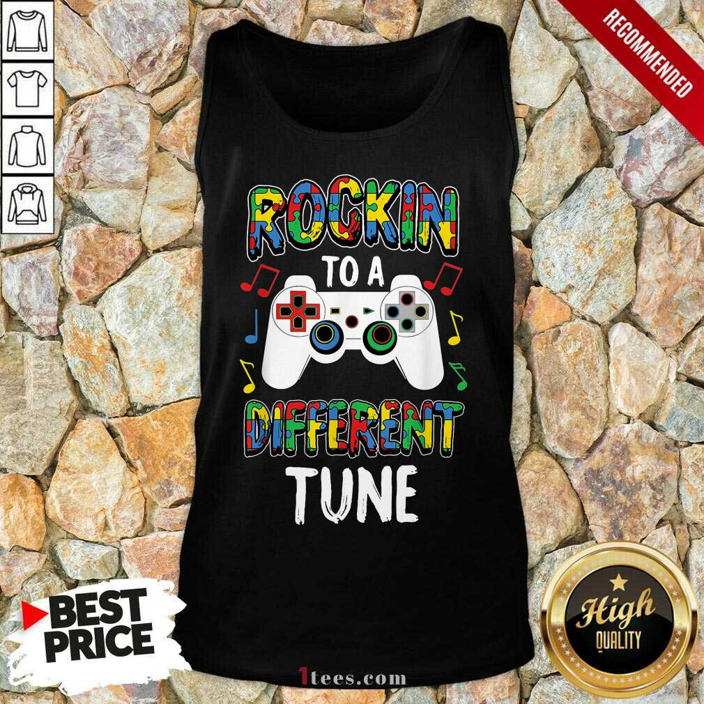 Relaxed Rocking To A Different Tune Controller Autism Tank Top