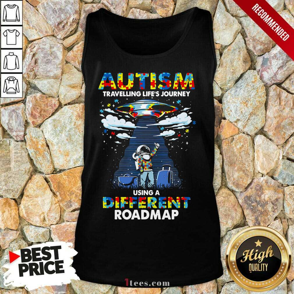 Surprised Autism Using A Different Roadmap Tank Top
