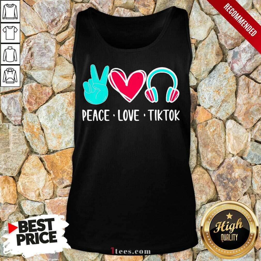 Surprised Peace Love Tiktok 2021 Tank Top