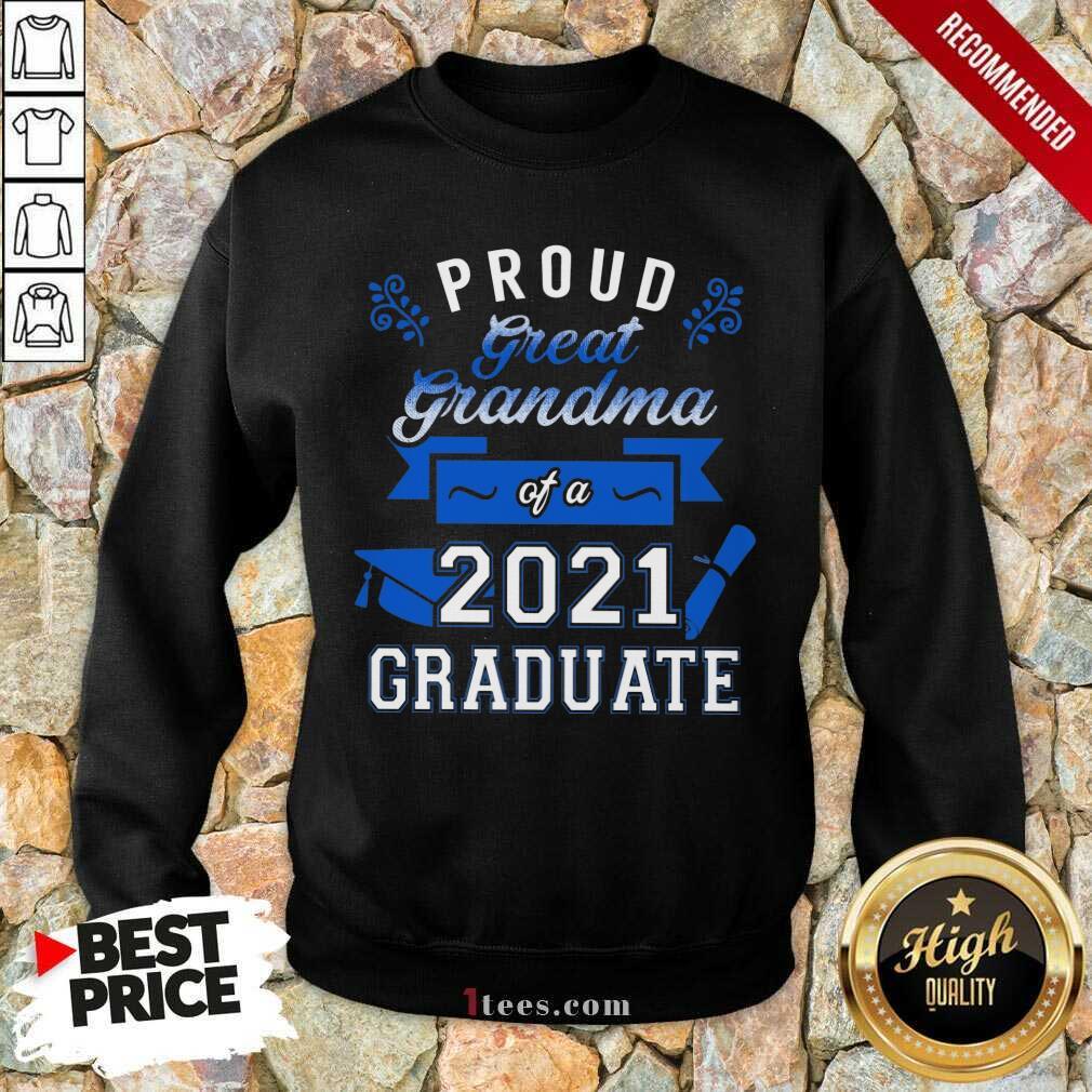 Terrific Proud Grandma 2021 Graduate Blue Sweatshirt