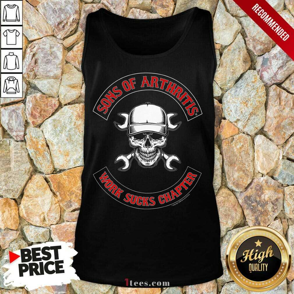 Awesome Skull Sons Of Arthritis Works Sucks Chapter Tank Top