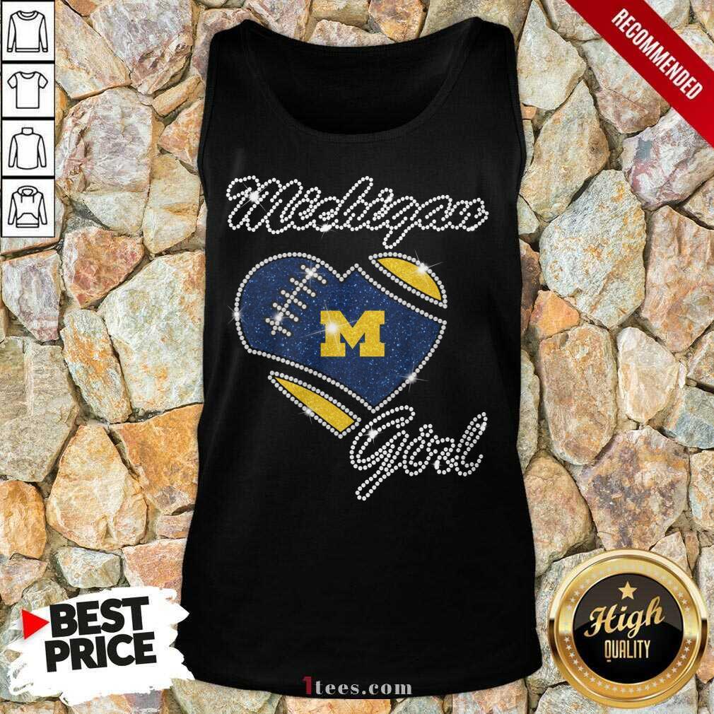 Excited Heart Michigan Girl Diamond Tank Top