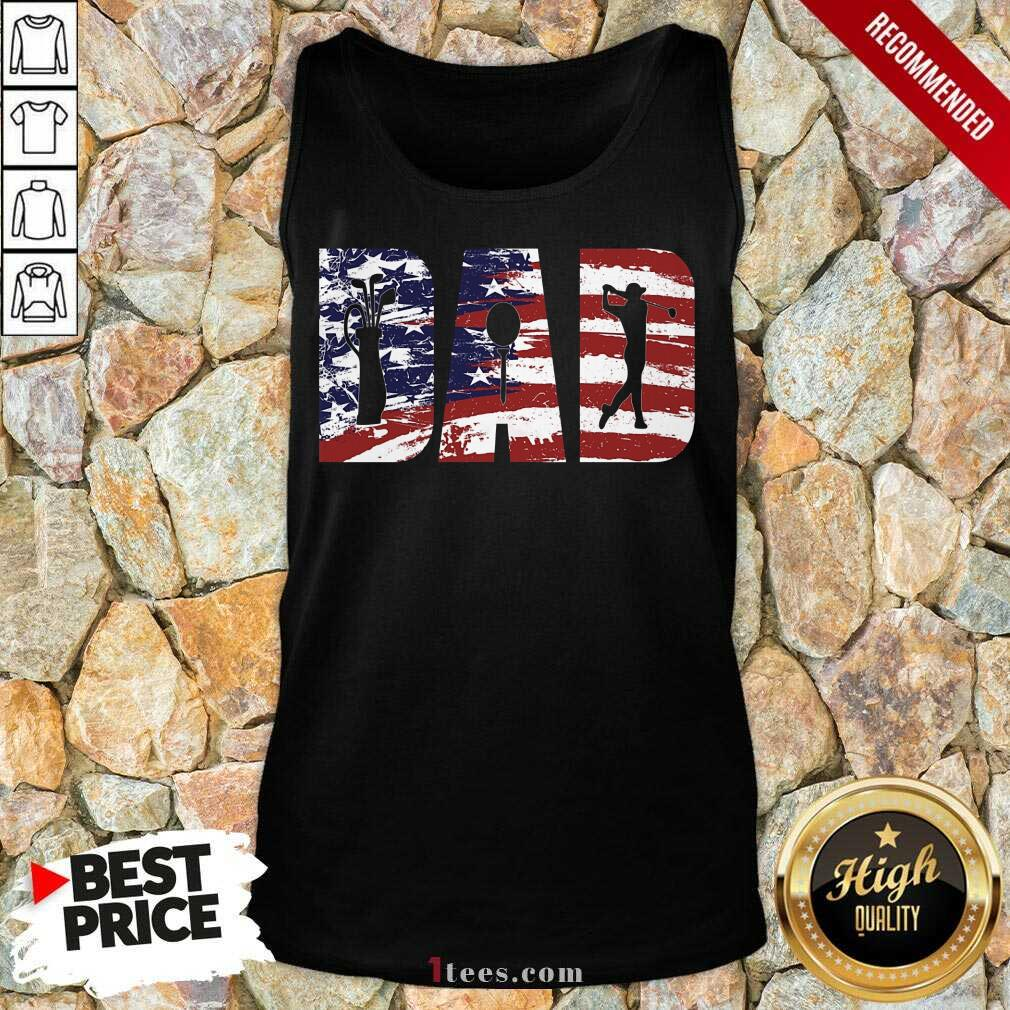 Dad American Flag Golf Tank Top