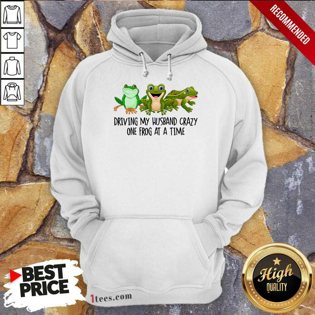 Driving My Husband Crazy One Frog Hoodie