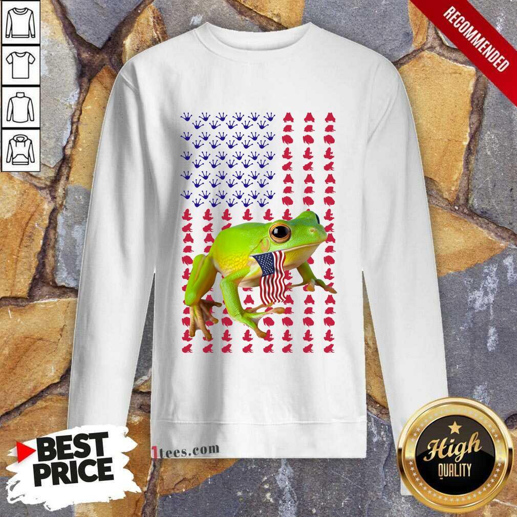 Frog American Flag Sweatshirt