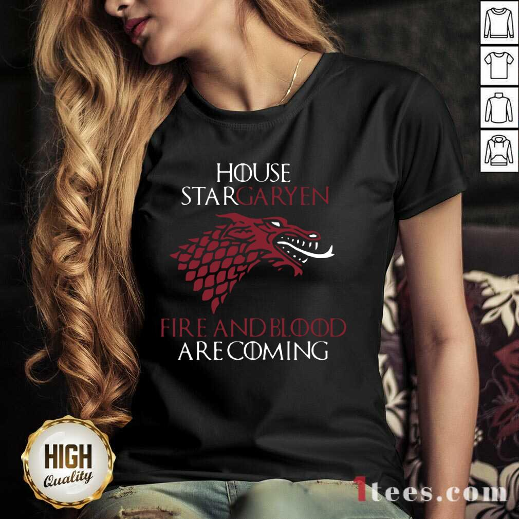 House Targaryen Fire And Blood Are Coming V-neck