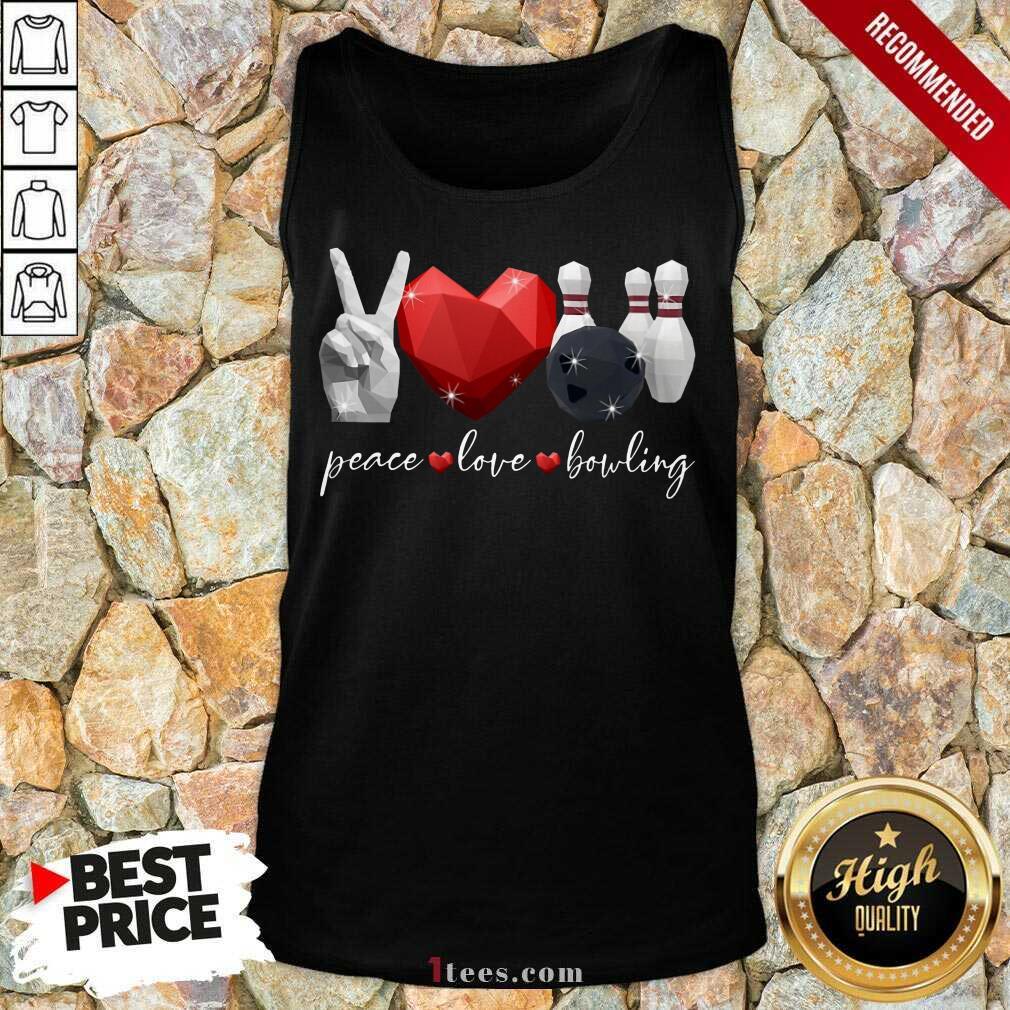 Peace Love Bowling Tank Top