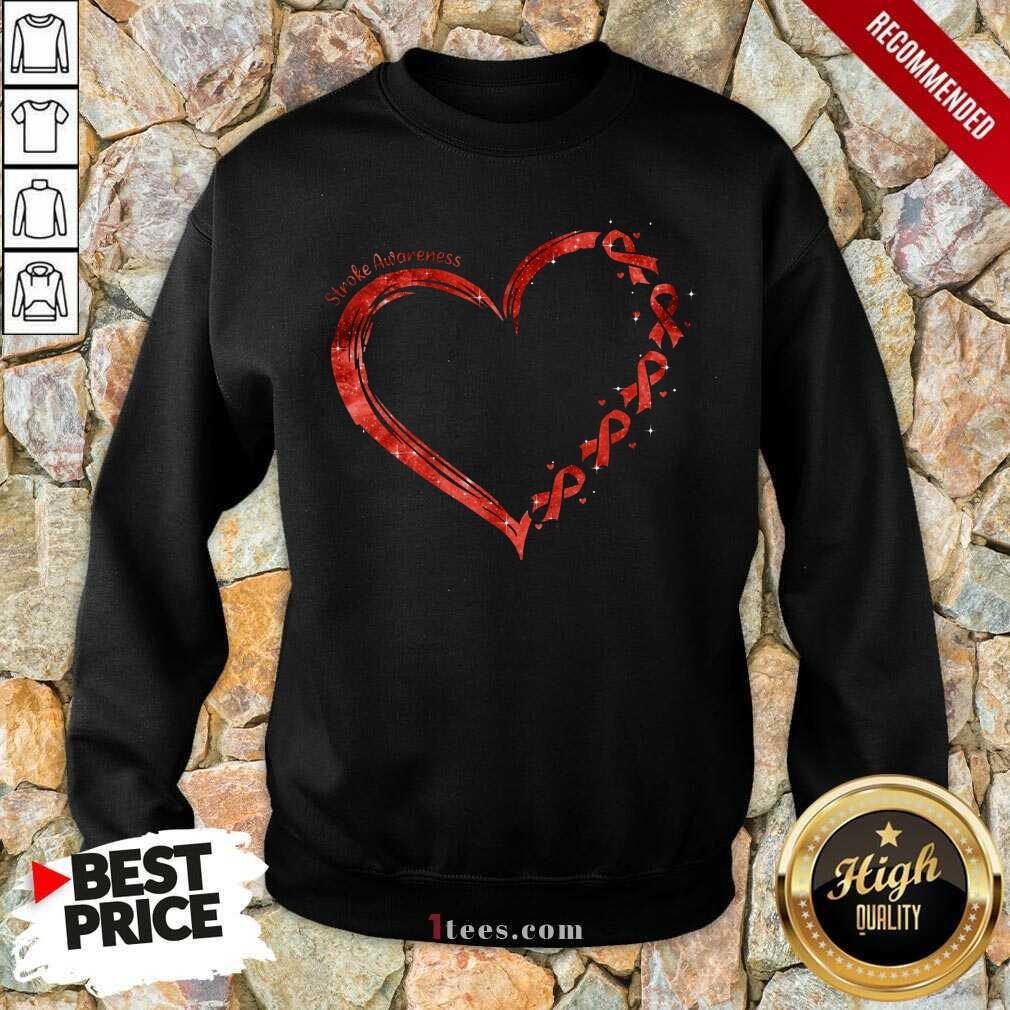 Stroke Awareness Heart Sweatshirt