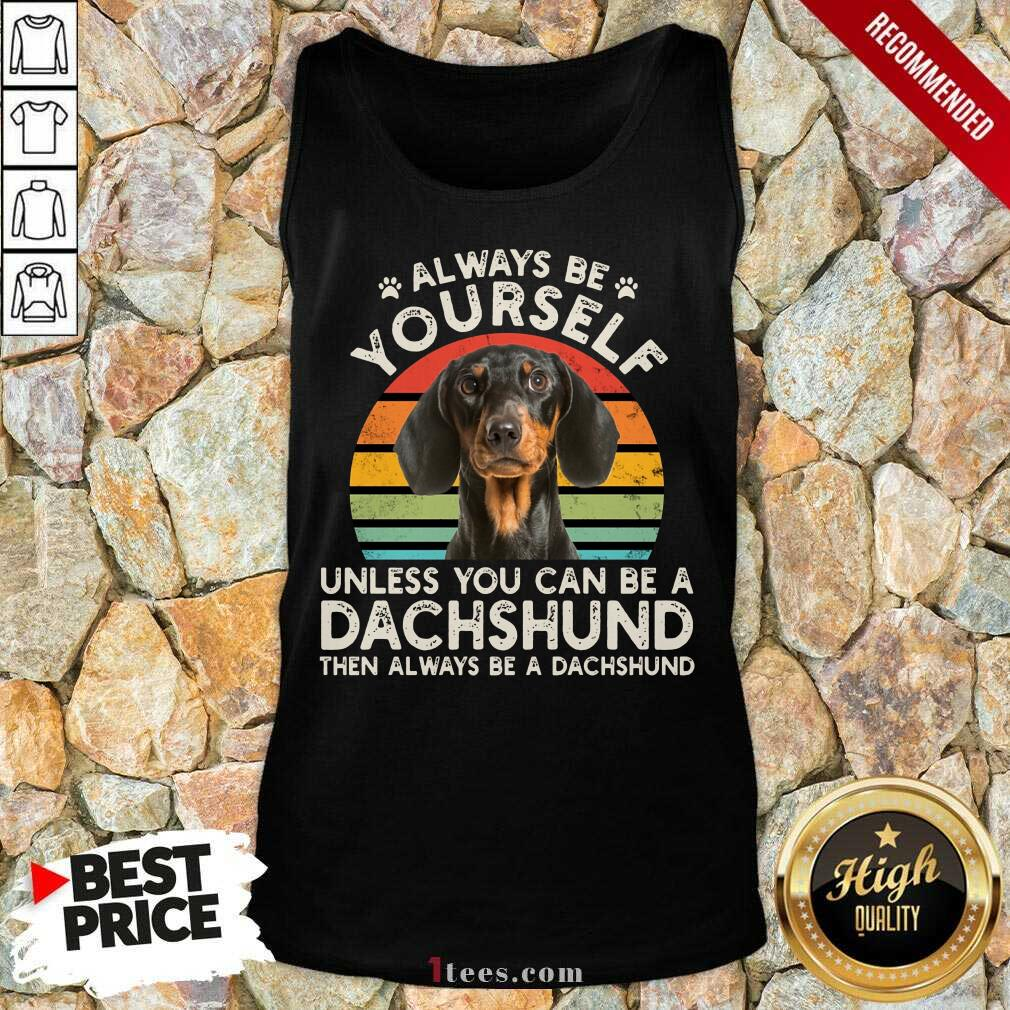 Yourself Dachshund Vintage Tank Top