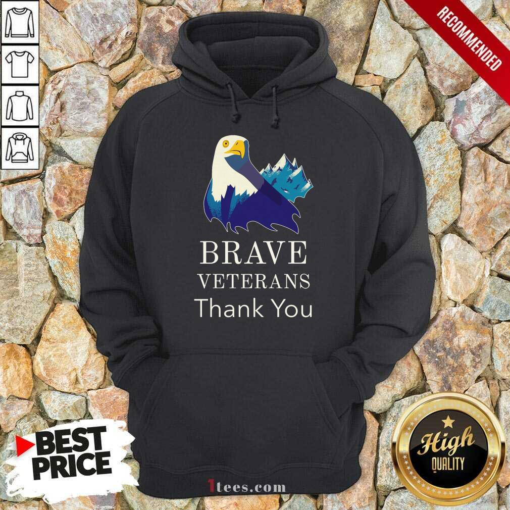 Brave Veterans Thank You Eagle Hoodie