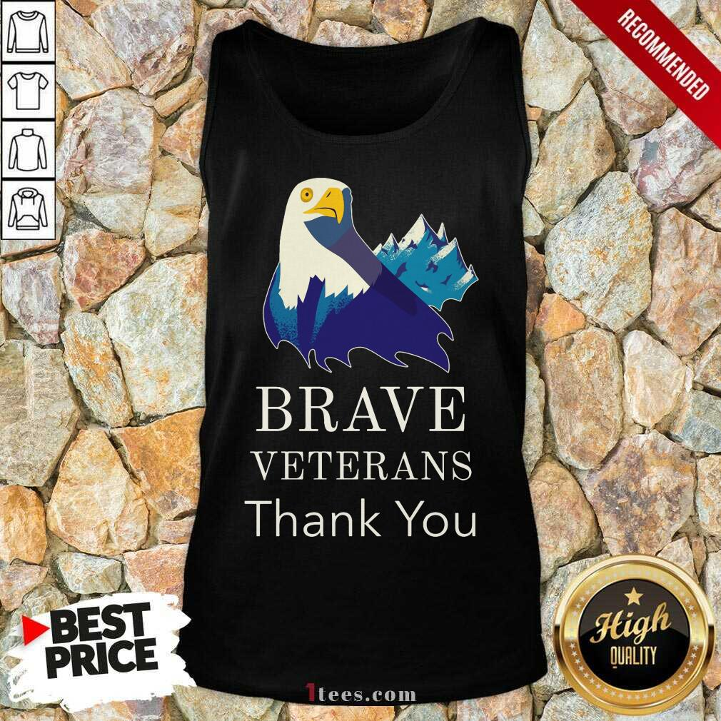 Brave Veterans Thank You Eagle Tank Top
