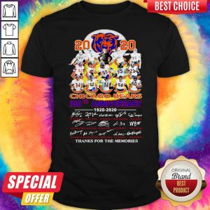 2020 Chicago Bears 100th Anniversary 1920 2020 Thank You For The Memories Shirt