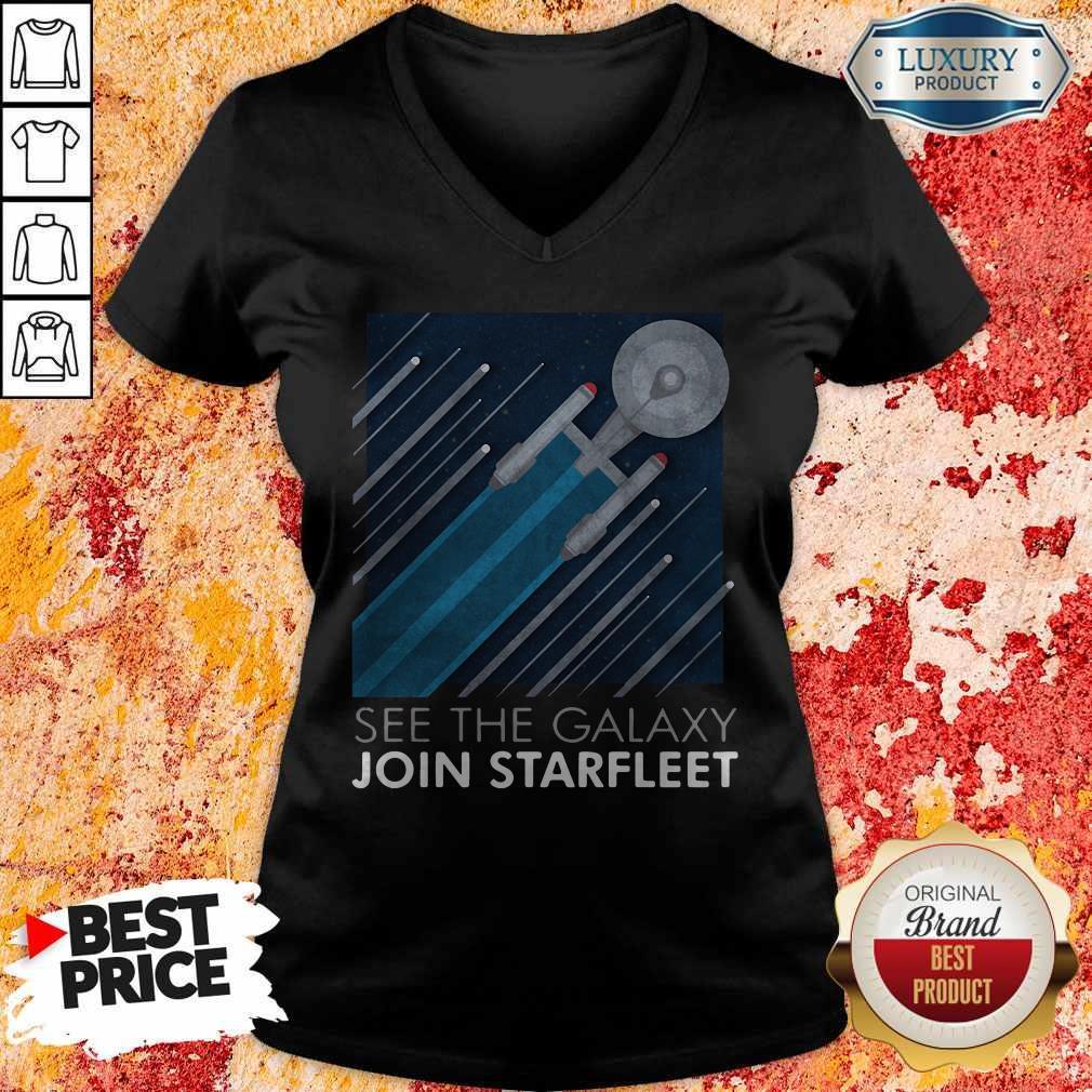 Funny Star Trek See The Galaxy Join Starfleet V-neck