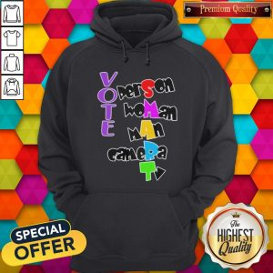 Nice Vote Person Woman Man Camera TV Hoodie