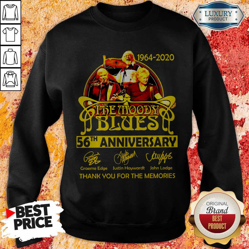 1964 2020 The Moody Blues 56th Anniversary Thank You For The Memories Signatures Sweatshirt