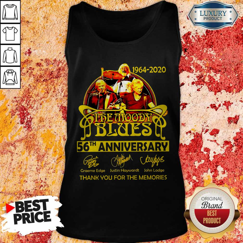 1964 2020 The Moody Blues 56th Anniversary Thank You For The Memories Signatures Tank Top