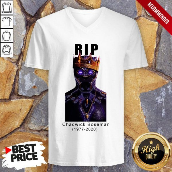Actor Chadwick Boseman The Black Panther Marvel V-neck