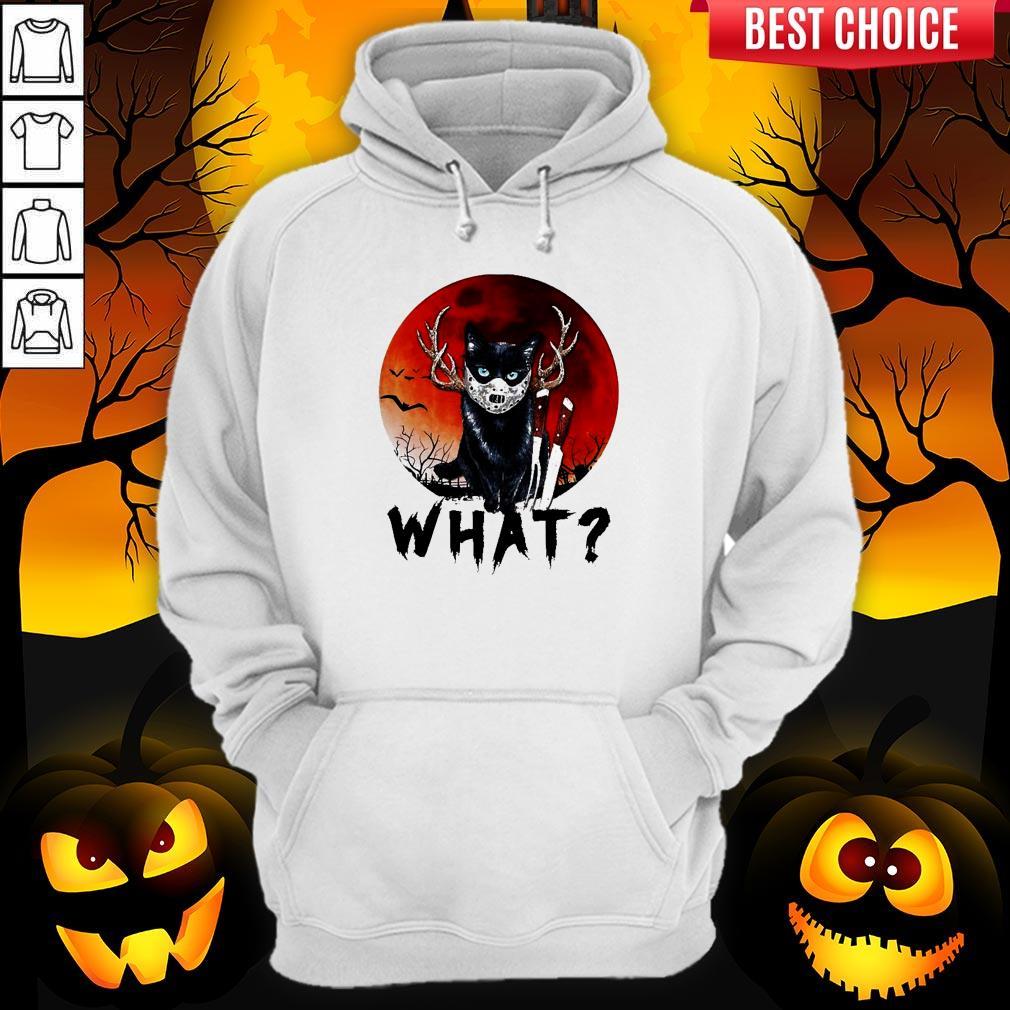 Black Cat Jason Voorhees What Halloween Hoodie