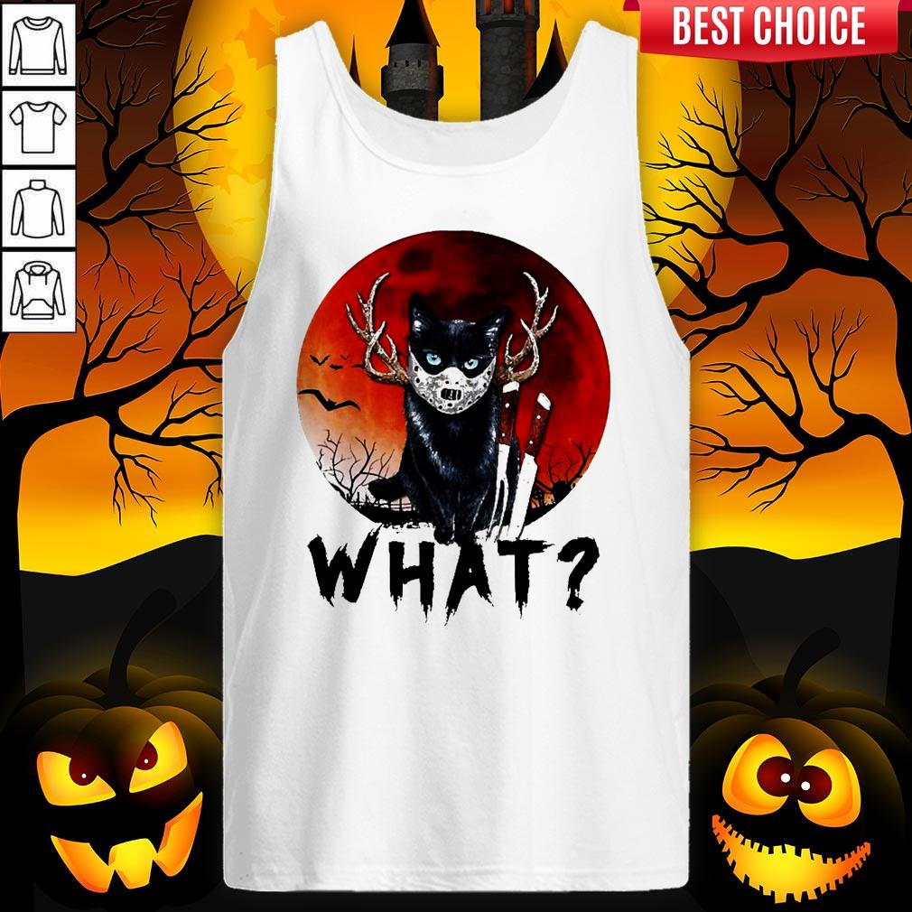 Black Cat Jason Voorhees What Halloween Tank Top