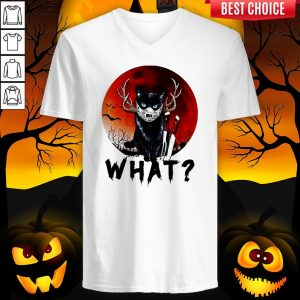 Black Cat Jason Voorhees What Halloween V-neck