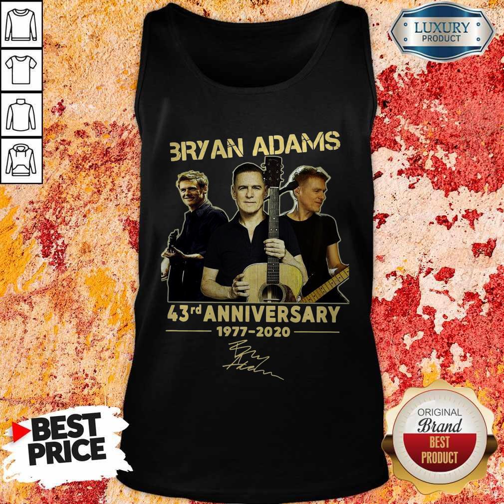 Bryan Adams 43rd Anniversary 1977 2020 Signature Tank Top