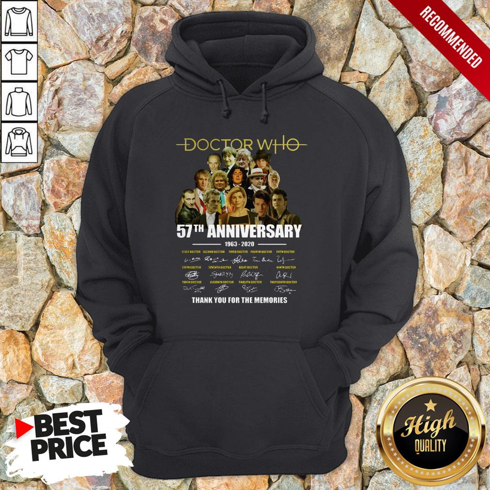 Doctor Who 57th Anniversary 1963 2020 Characters Signatures Hoodie